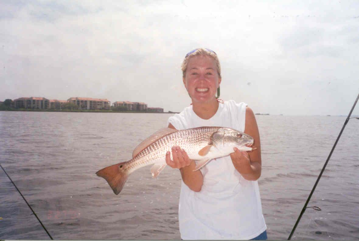 erin with redfish
